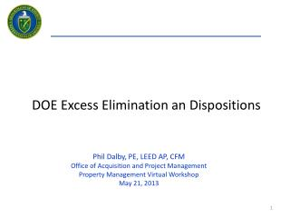 DOE Excess Elimination an Dispositions