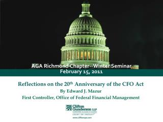 AGA Richmond Chapter--Winter Seminar February 15, 2011