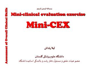 Mini-clinical evaluation exercise Mini-CEX