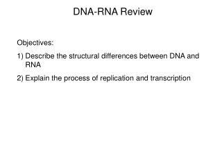 DNA-RNA Review