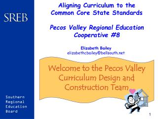 Welcome to the Pecos Valley Curriculum Design and Construction Team