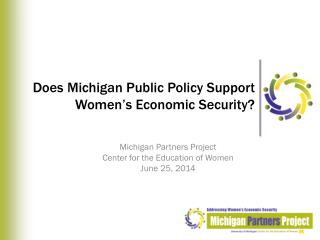 Does Michigan Public Policy Support Women's Economic Security?