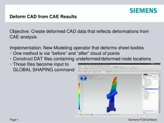 Deform CAD from CAE Results