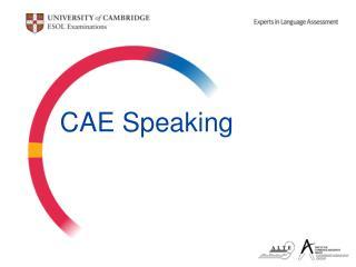 CAE Speaking