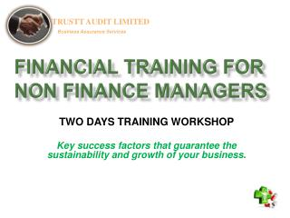 FINANCIAL TRAINING FOR NON FINANCE MANAGERS