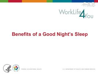 Benefits of a Good Night's Sleep