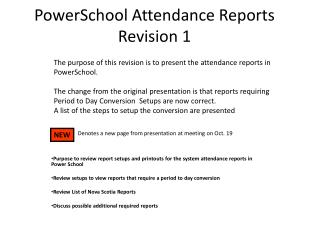 PowerSchool Attendance Reports Revision 1