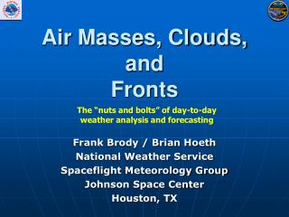 Air Masses, Clouds,  and Fronts