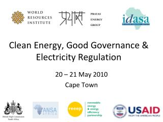 Clean Energy, Good Governance & Electricity Regulation