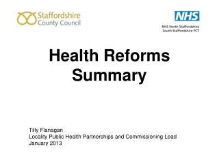 Health Reforms Summary