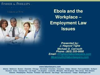 Ebola and the Workplace – Employment Law Issues