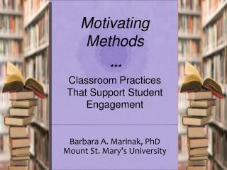 Barbara A. Marinak, PhD Mount St. Mary's University
