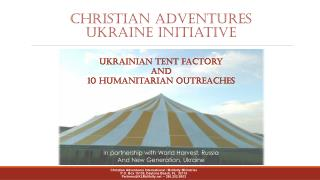 CHRISTIAN ADVENTURES Ukraine initiative