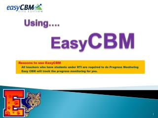Using…. Easy CBM