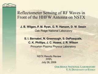 Reflectometer Sensing of RF Waves in Front of the HHFW Antenna on NSTX