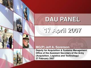 DAU PANEL 17 April 2007