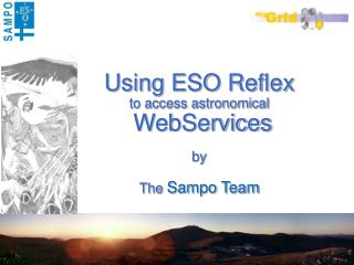 Using ESO Reflex to access astronomical WebServices