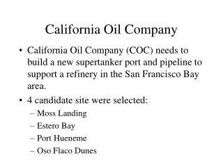 California Oil Company