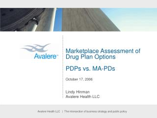 Marketplace Assessment of Drug Plan Options PDPs vs. MA-PDs  October 17, 2006