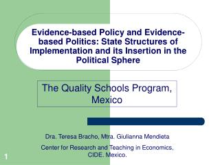 The Quality Schools Program, Mexico