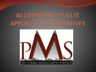ACCOUNTABILITY AS IT APPLIES TO COOPERATIVES