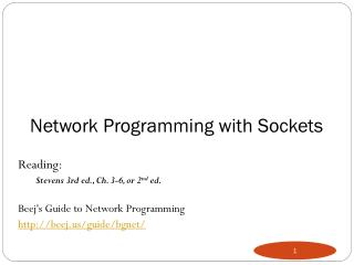 Network Programming with Sockets
