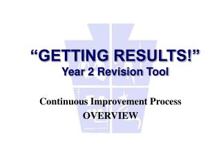 """GETTING RESULTS!"" Year 2 Revision Tool"