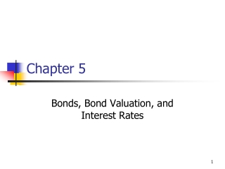 Topics 1: Interest rate risk