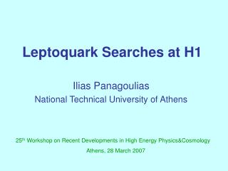 Leptoquark Searches at H1