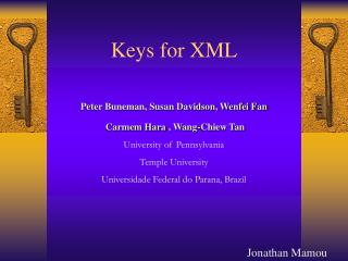 Keys for XML
