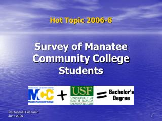 Survey of Manatee Community College Students