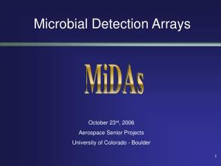 Microbial Detection Arrays