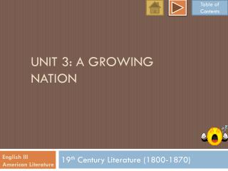 Unit 3: a growing nation