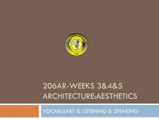 VOCABULARY & LISTENING & SPEAKING