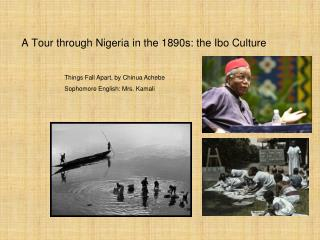 A Tour through Nigeria in the 1890s: the Ibo Culture