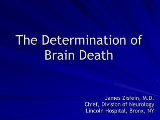 The Determination of Brain Death