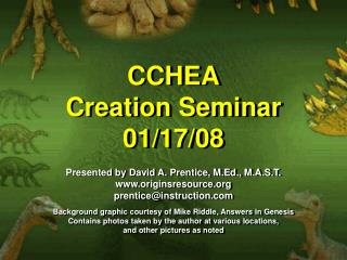 CCHEA Creation Seminar 01/17/08