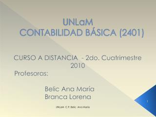 UNLaM CONTABILIDAD BÁSICA (2401)