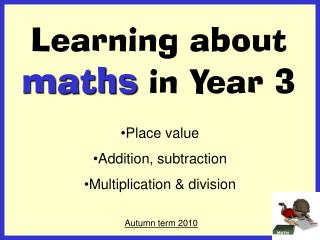 Learning about maths in Year 3