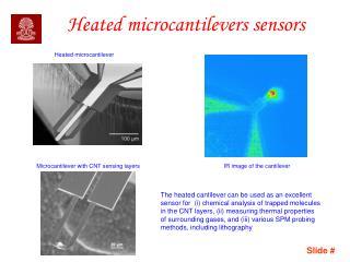 Heated microcantilevers sensors