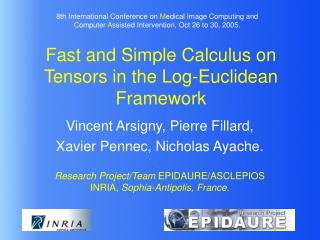 Fast and Simple Calculus on Tensors in the Log-Euclidean Framework