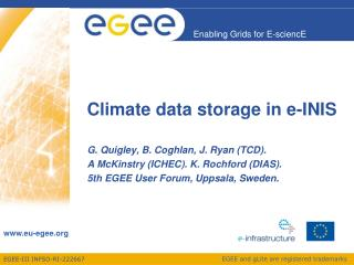 Climate data storage in e-INIS