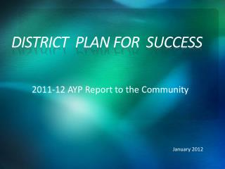 District  Plan For  Success