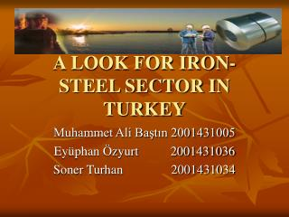 A LOOK FOR IRON-STEEL SECTOR IN TURKEY
