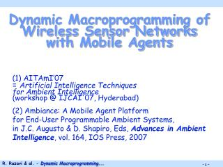 Dynamic Macroprogramming of Wireless Sensor Networks with Mobile Agents