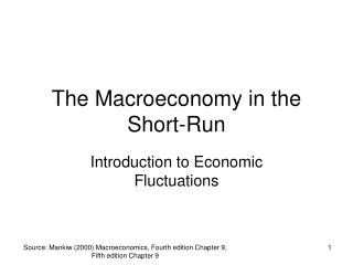 The Macroeconomy in the Short-Run