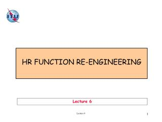 HR FUNCTION RE-ENGINEERING