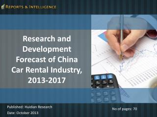 R&I: China Car Rental Industry Market- 2013 - 2017