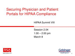 Securing Physician and Patient Portals for HIPAA Compliance