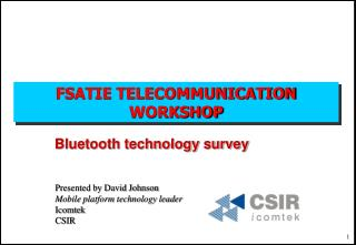 FSATIE TELECOMMUNICATION WORKSHOP
